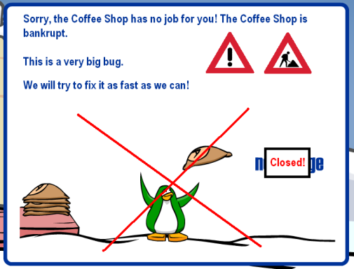 Coffee Shop bankrupt?